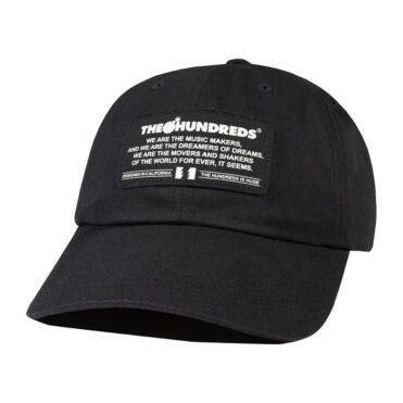 The Hundreds Runner Dad Strapback Hat Black