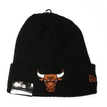 New Era Chicago Bulls Core Classic Knit Beanie Black