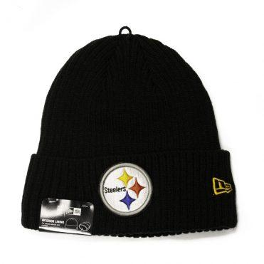 New Era Pitsburgh Steelers Core Classic Knit Beanie Black