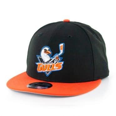 New Era 9fifty San Diego Gulls Snapback Hat Black Orange