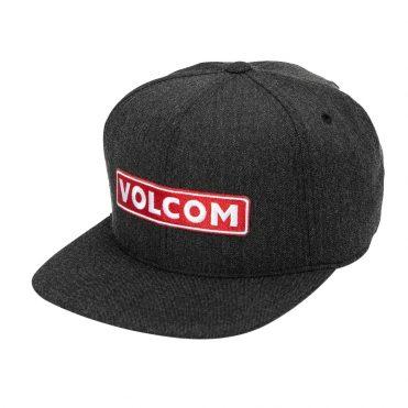 Volcom Bartar 110 Snapback Hat Charcoal Heather