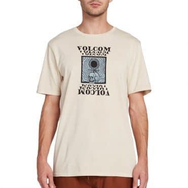 Volcom Hypno Skull T-Shirt White Flash