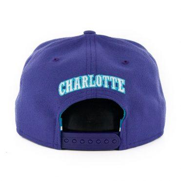 New Era 9Fifty Charlotte Hornets Basic Snapback Hat Purple