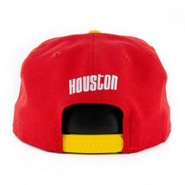 New Era 9Fifty Houston Rockets Basic Snapback Hat Red Yellow