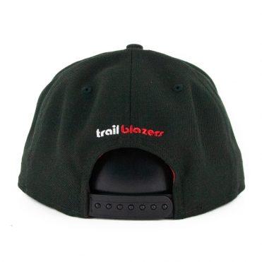 New Era 9Fifty Portland Blazers Basic Snapback Hat Black