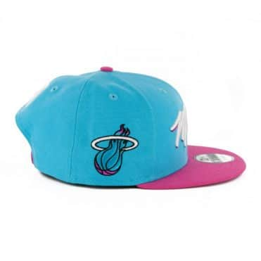 New Era 9Fifty Miami Heat City Series 2019 Snapback Hat Black Teal