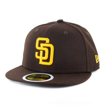 New Era 59Fifty San Diego Padres 2020 Game Youth Authentic On Field Fitted Hat Dark Brown