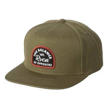 RVCA Contrast Snapback Hat Olive