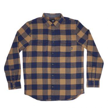 Vans Aliso Flannel Shirt Dress Blues Dirt