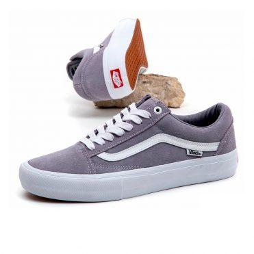Vans Old Skool Pro Shoe Lilac Grey True White