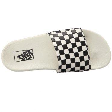 Vans Womens Slide-On Shoe Check White Black