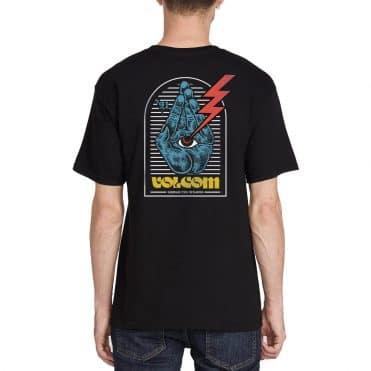 Volcom Eyedle Hands T-Shirt Black