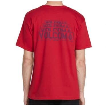 Volcom Lapse T-Shirt Engine Red