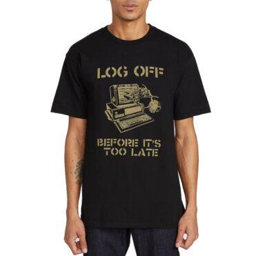 Volcom Log Off T-Shirt Black