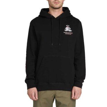 Volcom Reload Pull Over Hooded Sweatshirt Black