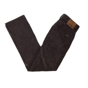 Volcom Solver 5 Pocket Cord Pant Asphalt Black