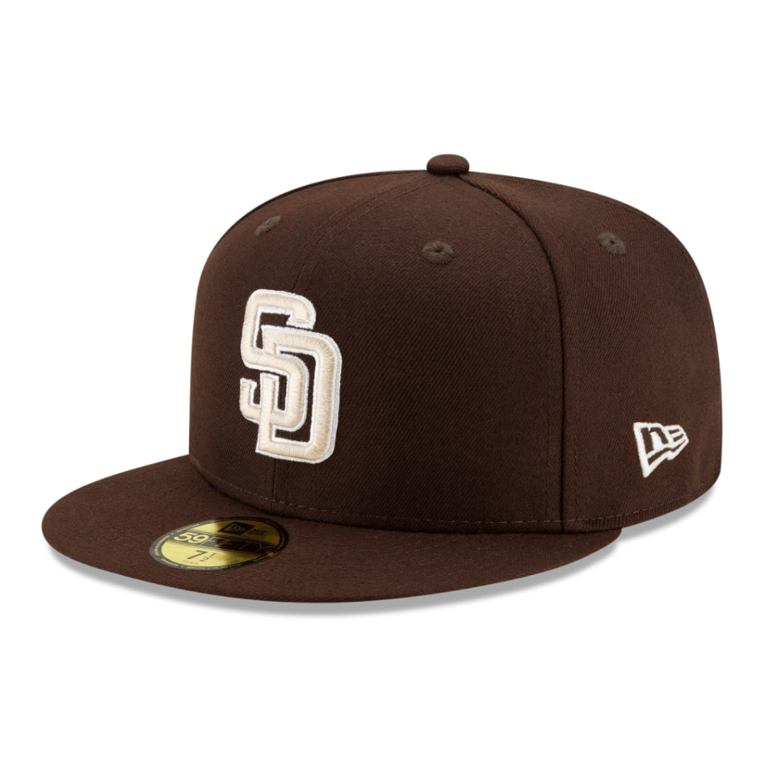 New Era San Diego Padres Game 2020 Brown Yellow MLB ACPerf Authentic On Field cap 59fifty 5950 Fitted