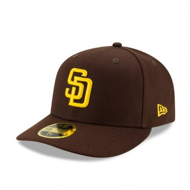 New Era 59Fifty Low Profile San Diego Padres Game 2020 On Field Fitted Hat Dark Brown
