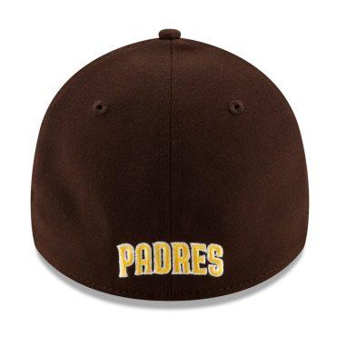 New Era 39Thirty San Diego Padres 2020 Team Classic Stretch Fit Hat Dark Brown