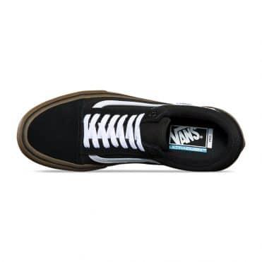 Vans Old Skool Pro Shoe Black White Medium Gum