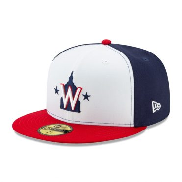 New Era 59Fifty Washington Nationals 2020 Alternate 2 Authentic Collection On Field Fitted Hat Navy White Red