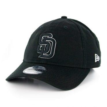 New Era 9Twenty San Diego Padres Core Classic Adjustable Hat Black Logo White Outline