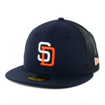 New Era 59Fifty San Diego Padres Gwynn Trucker Fitted Hat Dark Navy