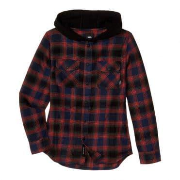 Vans Parkway Flannel Long Sleeve Shirt Dress Blues