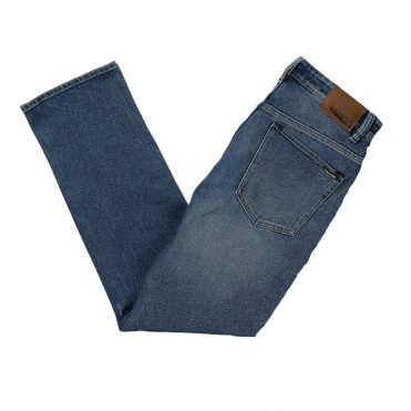 Volcom Solver Denim Pant Vintage Pacific Blue