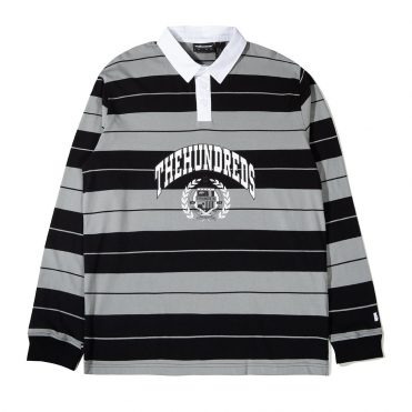 The Hundreds Charlie Long Sleeve Rugby Shirt Black