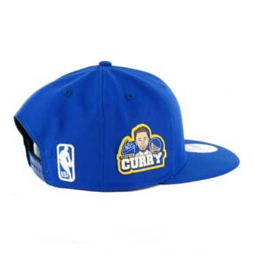 New Era 9Fifty Golden State Warriors Curry Caricature Snapback Royal