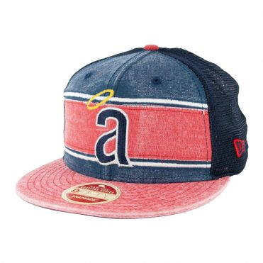 New Era 9Fifty Los Angeles Angels 71 Heritage Series Trucker Hat Dark Navy