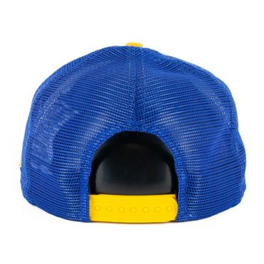 New Era 9Fifty Golden State Warriors Heritage Series Trucker Hat Royal Blue