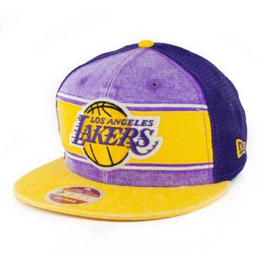 New Era 9Fifty Los Angeles Lakers Heritage Series Trucker Hat Purple