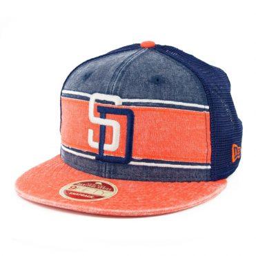 New Era 9Fifty Stack San Diego Padres 91 Heritage Series Trucker Hat Orange