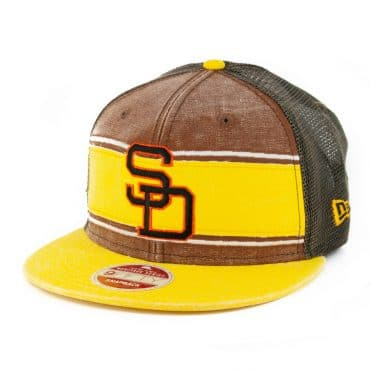 New Era 9Fifty Stack San Diego Padres 80-84 Heritage Series Trucker Hat Yellow