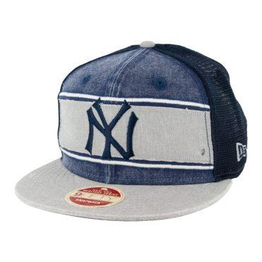 New Era 9Fifty New York Yankees 34 Heritage Series Trucker Hat Dark Navy