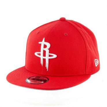 New Era 9Fifty Houston Rockets Harden Caricature Snapback Hat Scarlet