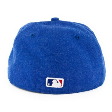 New Era 59Fifty Los Angeles Dodgers Heather Crisp 3 Fitted Hat Heather Dark Royal Blue
