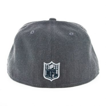 New Era 59Fifty Oakland Raiders Heather Crisp 3 Fitted Hat Heather Graphite