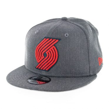 New Era 9Fifty Portland Blazers Heather 3 Snapback Hat Heather Graphite