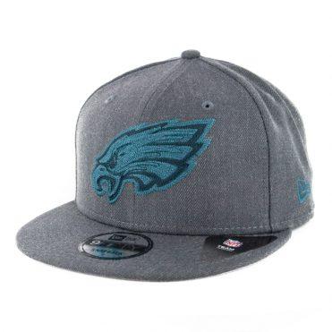 New Era 9Fifty Philadelphia Eagles Heather Crisp 3 Snapback Hat Heather Graphite
