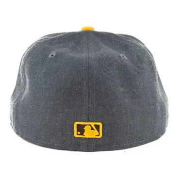 New Era 59Fifty San Diego Padres Heather Fitted Hat Heather Graphite