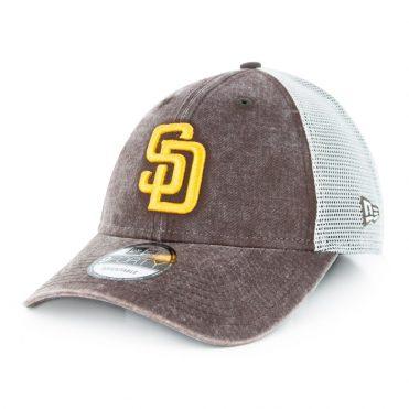 New Era 9Forty San Diego Padres Trucker 940 Strapback Hat Brown