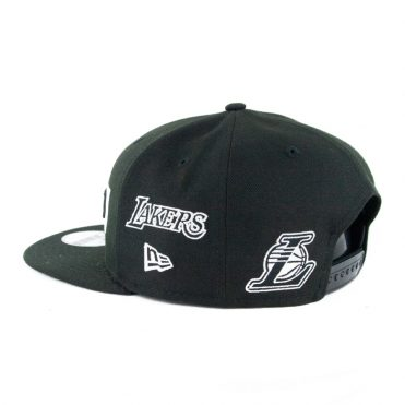 New Era 9Fifty Los Angeles Lakers Multi Snapback Hat Black