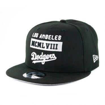 New Era 9Fifty Stack Los Angeles Dodgers Snapback Hat Black