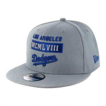 New Era 9Fifty Stack Los Angeles Dodgers Snapback Hat Storm Grey