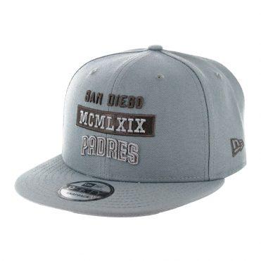 New Era 9Fifty Stack San Diego Padres Snapback Hat Storm Grey