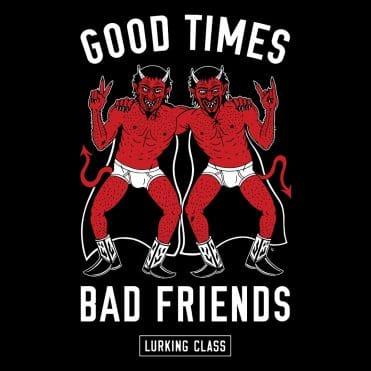 Sketchy Tank Horny Devils Hooded Sweatshirt Black