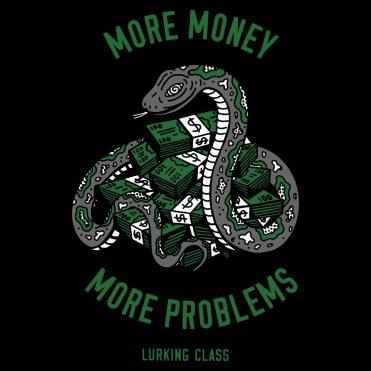 Sketchy Tank Money Problems T-Shirt Black